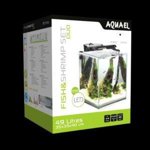 Akvarium Set Nano Duo 49L Svart