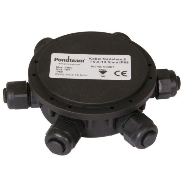 Kabel fördelare 6 undervatten 9.5-13.5mm