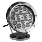 LED Spot Pro 18 W metall vit