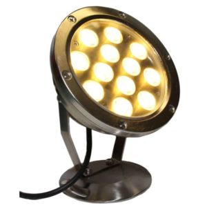 LED Spot Pro 12 W metall kort kabel